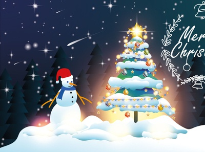 How to design a Christmas concept vector tree