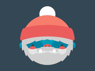 Yeti vector sasquatch bigfoot snowman abominable cute yeti icon illustration