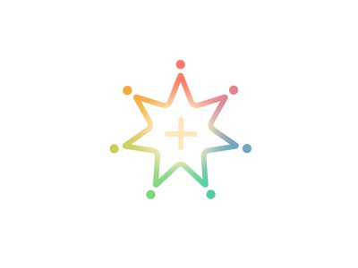 Advance growth cross color bright star seven logo