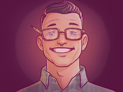 Me self portrait character design digital illustration avatar guy man purple character cartoon drawing color