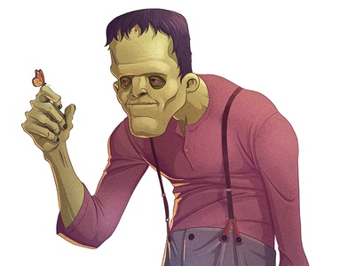 Frankie character design drawing character illustration frankenstein halloween