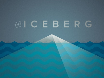 The Iceberg title type color illustration graphic design vector