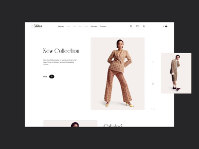 First screen of ecommerce clothing store fashion design digital art dribbble clothing fashion digital designer desktop typography ui design webdesign web ui  ux ui design store motion ecommerce