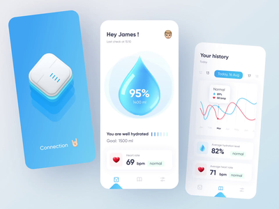 Hydration Tracking App tracking helth water hydration chart analitycs app dashboad interface design ui design ui ui  ux