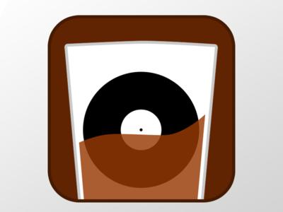 Bourbon and Vinyl Social Media Logo glass whiskey record vinyl bourbon