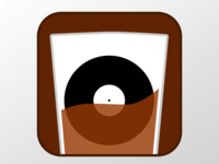 Bourbon and Vinyl Social Media Logo