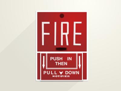 Fire Alarm handlettering helvetica alarm fire fire alarm
