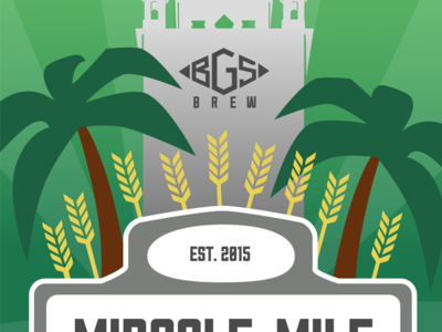 BGS Brew Miracle Mile Wheat Ale street sign sullivan coral gables miami biltmore palm tree wheat beer