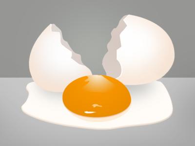 Broken Egg! broken cracked shell yolk egg