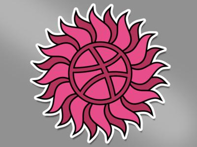 Dribbble Playoff Rebound Sticker repitition sticker sun dribbble