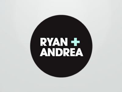 Wedding Website Logo wedding marriage logo avant garde bold light blue off black circle