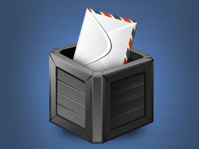 """Patient Concern"" App Icon box letter comment gray grey orange icon"