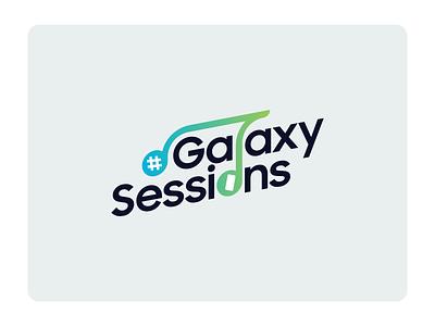 Music Sessions Logo vlog youtube logotype logos logo design icon vector branding 2d illustration logo