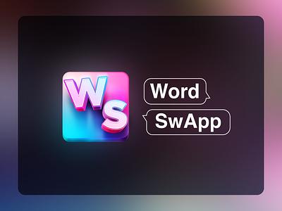 Icon Design typography design keyboard application app design app icon logo 3d