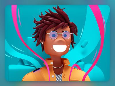 Random Portrait selfie 3d art 3d artist cartoon character design character vector 3d illustration