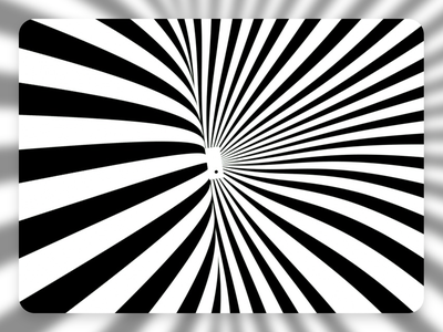 Phone Void octanerender illustration white void 2d waves black and white optical illusion 3d silhouette phone