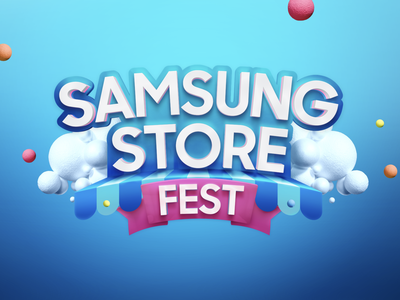 Store Fest typography art stores promotion illustration logo design typography 3d