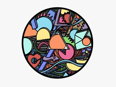 Sakidō color colorful circle round abstract art abstract logo minimal procreate app procreate illustration design