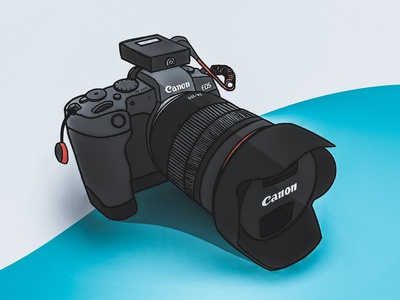 Canon EOS RP drawing sketch dslr camera eos rp eos rp eos canon product design procreate app procreate illustration