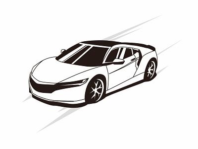sportcar silhouette illustration black color vector garage illustration race technology symbol drive speed engine design transportation sport vector motor automotive sportcar transport vehicle auto automobile car