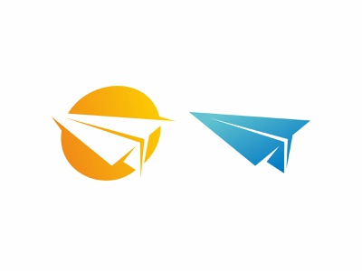 paper plane logo icon illustration vector wing icon aviation design toy air illustration symbol freedom origami vector concept travel aircraft background flight fly airplane paper plane