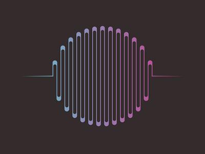 music sound wave circle shape with purple and blue gradient curve voice waveform volume line element technology black electronic equalizer illustration wave audio digital design music vector background sound abstract