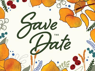 Save the Date typography branding lettering savethedate wedding illustration