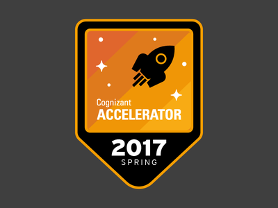 Spring 2017 space sticker vector illustration