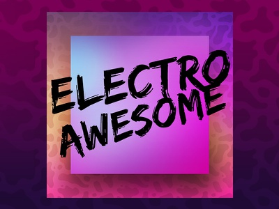 ElectroAwesome pop brush type purple pink music electro gradients cover art