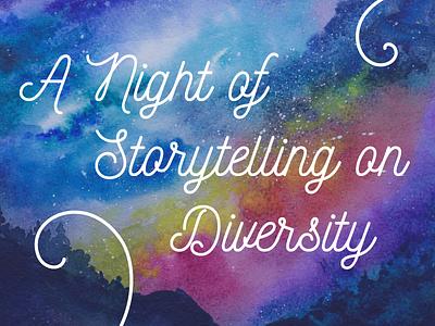 A Night of Storytelling typography