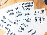 Brush pen & buzz words