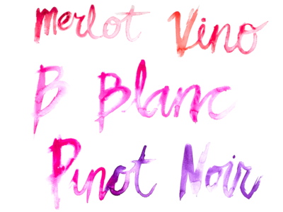 Vino watercolor paint wine