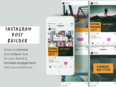 Instagram Post Marketing typography vector design illustration instaart cool design instagram banner banners post template builder insta instagram instagram ads