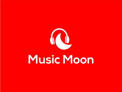 Music Moon rakibul62 branding logo designer logodesigner music note design logo illustration design icon identity logo design logodesign dribbble logotype logo moon logo music moon logo music moon music logo music