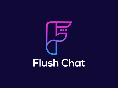 Flush Chat chat logo message logo f chat f chat logo f letter logo f logo flush chat logo flush chat chat flush ui illustration design icon identity logo design logodesign dribbble logotype logo
