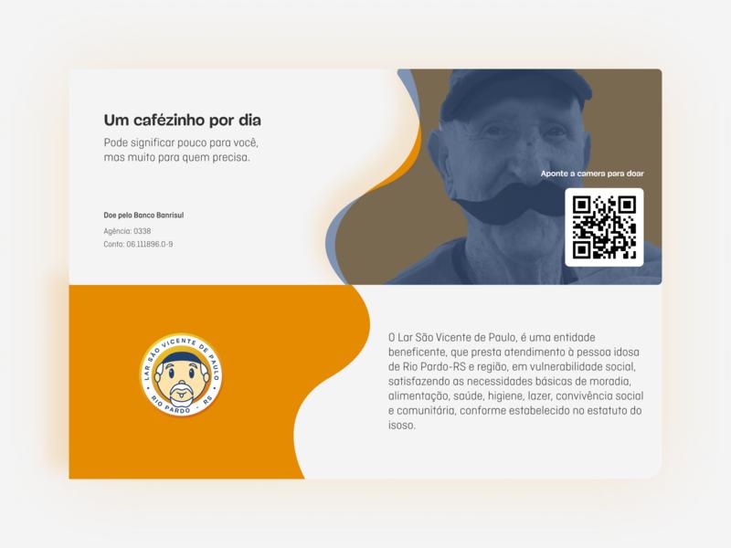 Lar São Vicente de Paulo | Ação beneficente logo illustration beneficent grandfather grandmother asylum