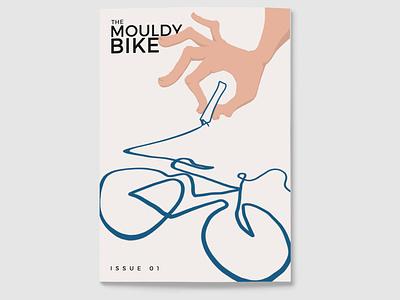 The Mouldy Bike Cover literary poster cover magazine zine fingers pen scribble bike hand drawn hand photoshop art photoshop illustration illustrator