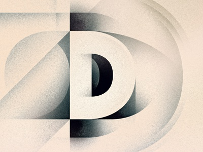 D noir goodtype dropcap gradient futurism art deco drop cap texture illustrator 36daysoftype typography lettering type vector illustration