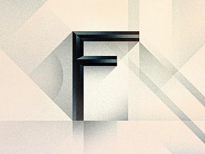 F goodtype bevel noir art deco texture 36daysoftype drop cap letter illustrator typography lettering type vector illustration