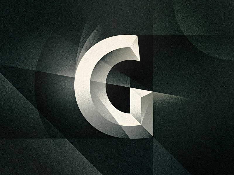 G bevel goodtype noir art deco texture 36daysoftype drop cap letter illustrator typography lettering type vector illustration