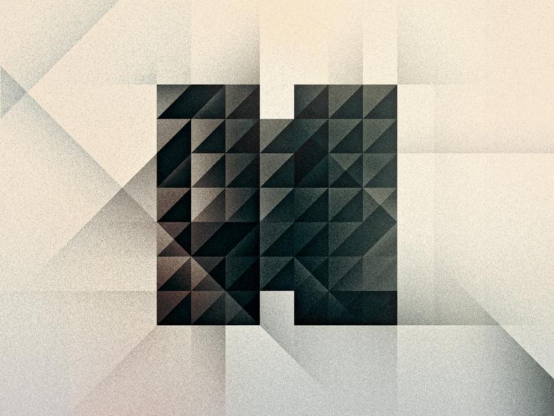 H goodtype triangles brutalism art deco texture 36daysoftype drop cap letter illustrator typography lettering type vector illustration
