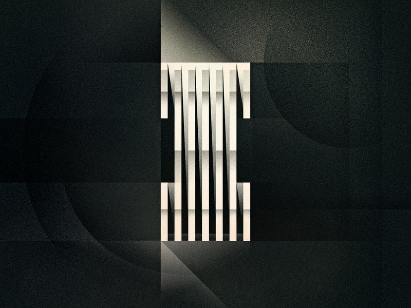 I goodtype dimensional geometric futurist brutalism art deco design texture 36daysoftype drop cap letter illustrator typography lettering type vector illustration