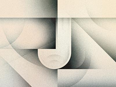 J shadow cubist futurist art deco goodtype texture 36daysoftype drop cap letter illustrator typography lettering type vector illustration