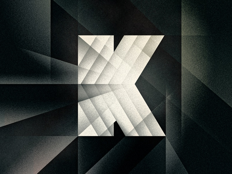 K k noir art deco goodtype texture 36daysoftype drop cap letter illustrator typography lettering type vector illustration