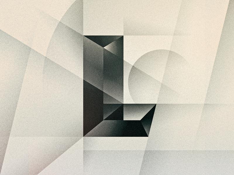 L art deco noir goodtype texture 36daysoftype drop cap letter illustrator typography lettering type vector illustration