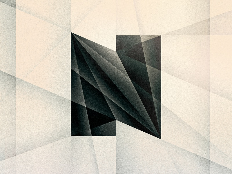 N noir geometric futurist art deco goodtype texture 36daysoftype drop cap letter illustrator typography lettering type vector illustration