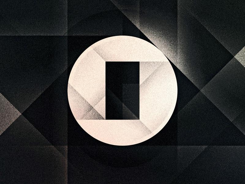 O o noise futurist noir art deco goodtype texture 36daysoftype drop cap letter illustrator typography lettering type vector illustration