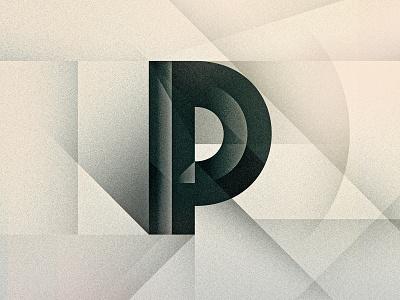 P futurist art deco noir p bevel texture 36daysoftype drop cap letter illustrator typography lettering type vector illustration