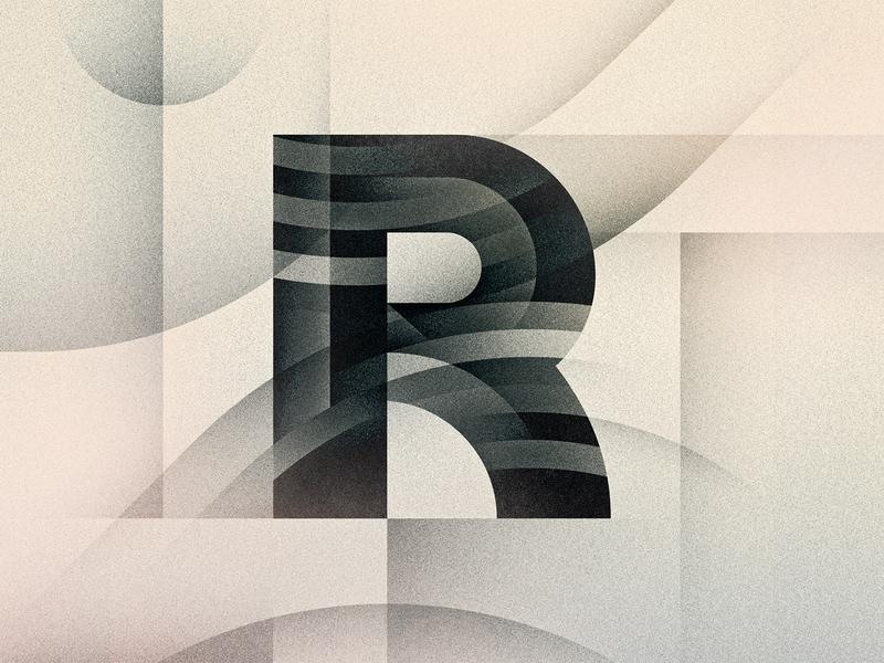 R goodtype noir art deco texture 36daysoftype drop cap letter illustrator typography lettering type vector illustration