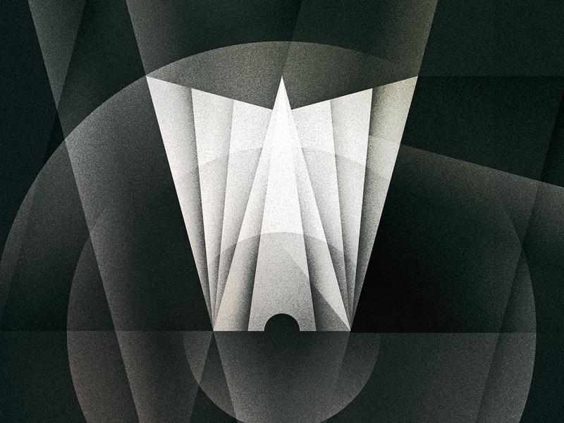 W goodtype w futurist noir art deco texture 36daysoftype drop cap letter illustrator typography lettering type vector illustration